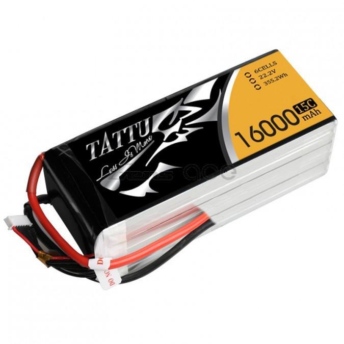 LiPo → Akumulatory 22.2V (6S) → 16000mAh 15C TATTU Gens Ace