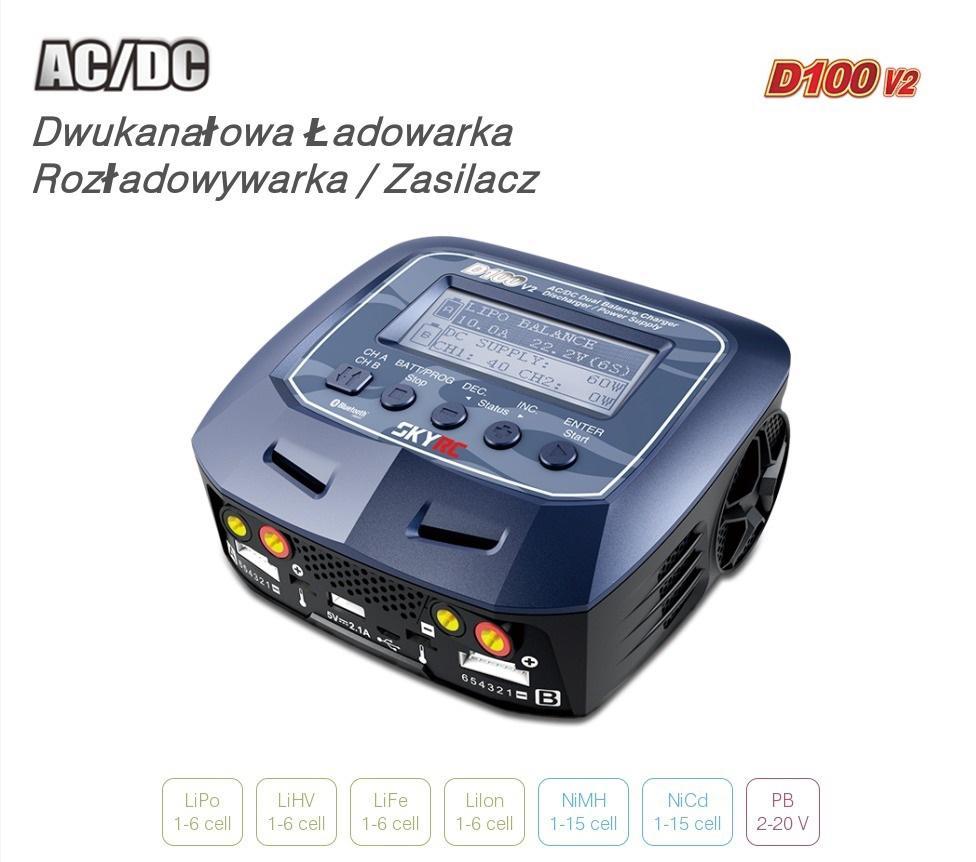 Ładowarka SkyRC D100 2x10A 200W