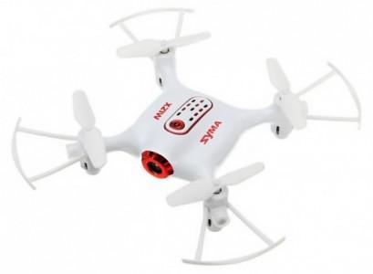 Syma X21W HD (kamera FPV 720p, 2.4GHz, żyroskop, auto-start, zawis, zasięg 20m, 13.5cm) - Biały  | synapse.com.pl