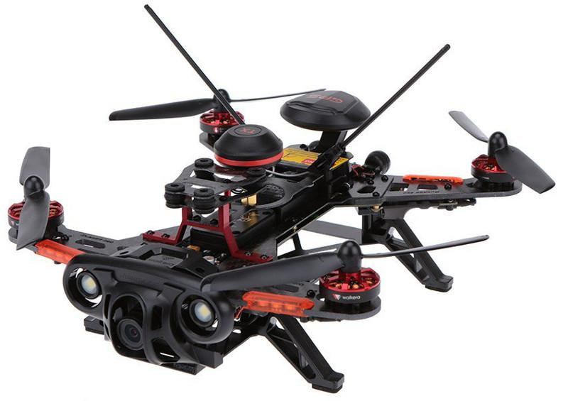 Dron wyścigowy Walkera Runner 250 Advance RTF1 (DEVO 7, kamera 1080p, akumulator, ładowarka, transmisja FPV, GPS, OSD, zasięg 1km)