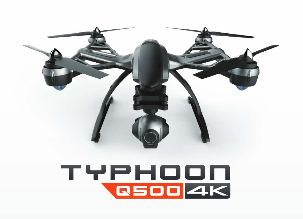 Yuneec Typhoon Q500 4K, aparatura ST10+, WIZARD, gimbal-kamera CGO3, SteadyGrip, 2 akumulatory, walizka | synapse.com.pl