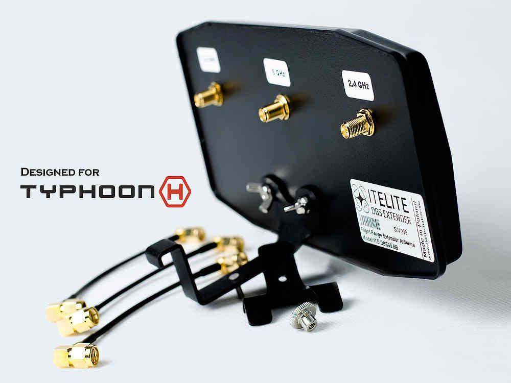Akcesoria: Antena panelowa MaxxRange do aparatur ST16/ST16+ Typhoon H, ST16/ST24+ Tornado YUNEEC